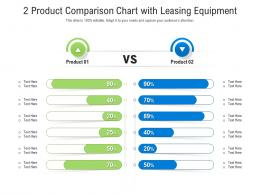 2 Product Comparison Chart With Leasing Equipment Infographic Template