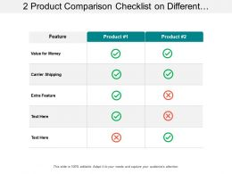 2 Product Comparison Checklist On Different Features