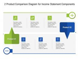 2 Product Comparison Diagram For Income Statement Components Infographic Template