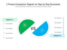 2 Product Comparison Diagram For Step By Step Documents Infographic Template
