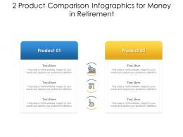 2 Product Comparison For Money In Retirement Infographic Template