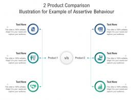 2 Product Comparison Illustration For Example Of Assertive Behaviour Infographic Template