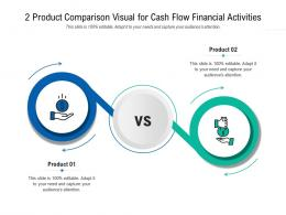 2 Product Comparison Visual For Cash Flow Financial Activities Infographic Template