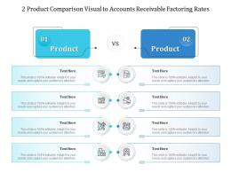 2 Product Comparison Visual To Accounts Receivable Factoring Rates Infographic Template