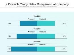 2 Products Yearly Sales Comparison Of Company