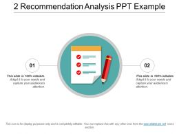2 Recommendation Analysis Ppt Example
