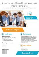 2 Services Offered Flyers On One Page Template 1 Presentation Report Infographic PPT PDF Document
