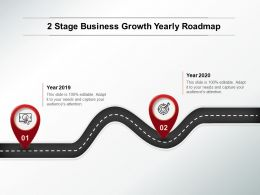 2 Stage Business Growth Yearly Roadmap