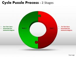 2 Stage Cycle Diagram Puzzle Process 1