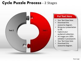 2 Stage Cycle Diagram Puzzle Process Powerpoint Slides And ppt Templates 0412