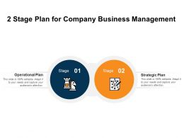 2 Stage Plan For Company Business Management