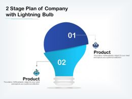 2 Stage Plan Of Company With Lightning Bulb