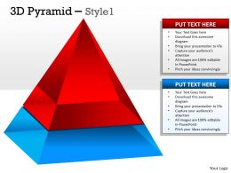 2 Staged 3D Pyramid