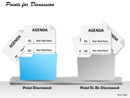 2 Staged Agenda Of Discussion Diagram 0214