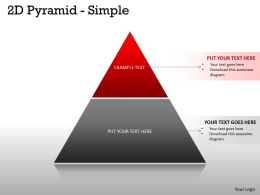 2 Staged Pyramid For Business Process