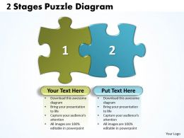 60298312 Style Puzzles Linear 2 Piece Powerpoint Presentation Diagram Infographic Slide