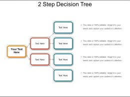 2 Step Decision Tree Presentation PowerPoint