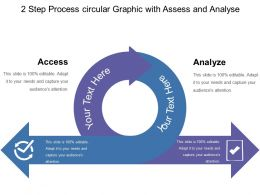 2 Step Process Circular Graphic With Assess And Analyse