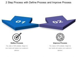 2 Step Process With Define Process And Improve Process