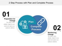 2 Step Process With Plan And Complete Process