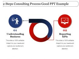 2 Steps Consulting Process Good Ppt Example
