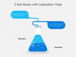 2 Text Boxes With Laboratory Flask