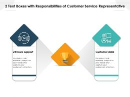 2 Text Boxes With Responsibilities Of Customer Service Representative