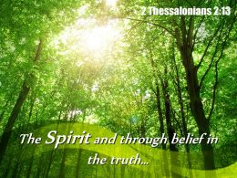 2 Thessalonians 2 13 The Spirit And Through Powerpoint Church Sermon