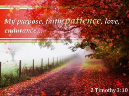 2 Timothy 3 10 My Purpose Faith Patience Love Endurance Powerpoint Church Sermon