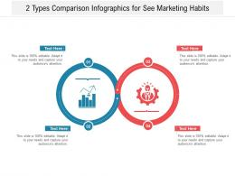 2 Types Comparison Infographics For See Marketing Habits Infographic Template