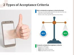 2 Types Of Acceptance Criteria
