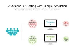 2 Variation AB Testing With Sample Population