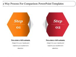 2 Way Process For Comparison Powerpoint Templates