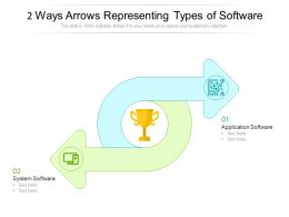 2 Ways Arrows Representing Types Of Software