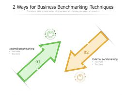 2 Ways For Business Benchmarking Techniques
