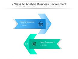 2 Ways To Analyze Business Environment