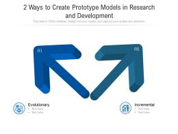 2 Ways To Create Prototype Models In Research And Development