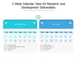 2 Week Calendar View For Research And Development