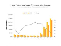 2 Year Comparison Graph Of Company Sales Revenue