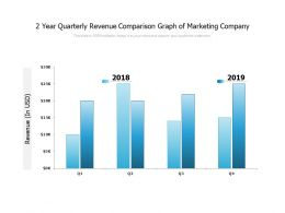 2 Year Quarterly Revenue Comparison Graph Of Marketing Company