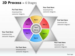 2D Mixed Process Diagram With 6 Stages