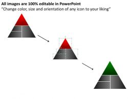284441 Style Layered Pyramid 4 Piece Powerpoint Presentation Diagram Infographic Slide