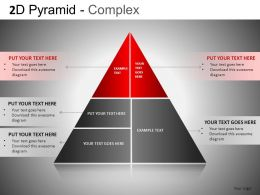 2D Pyramid Complex Powerpoint Presentation Slides DB