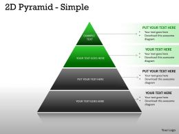 2D Pyramid Simple Design With 4 Stages