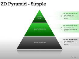 2d Pyramid Simple Powerpoint Presentation Slides
