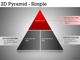 2D Pyramid Simple Powerpoint Presentation Slides DB