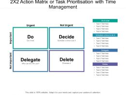 2x2 Action Matrix Or Task Prioritisation With Time Management