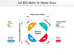 2x2 BCG Matrix For Market Share