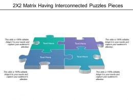 2x2 Matrix Having Interconnected Puzzles Pieces