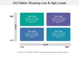 2x2 Matrix Showing Low And High Levels
